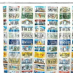 Shower Curtain With License Plates
