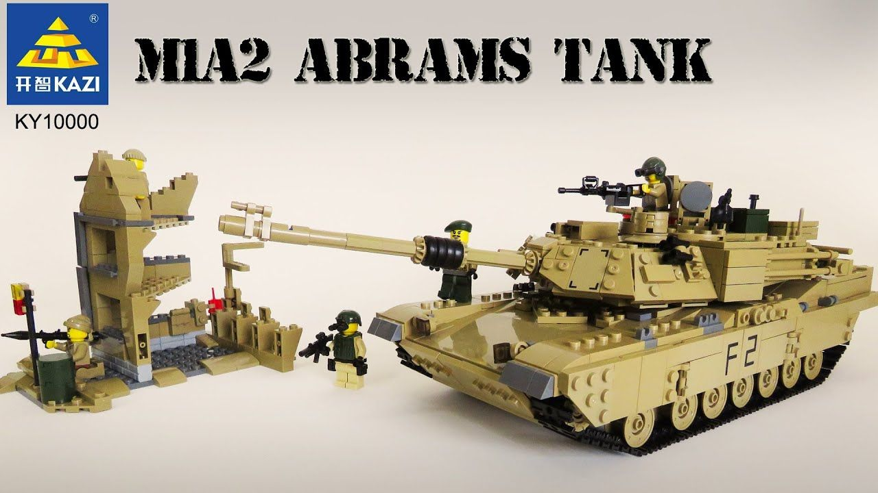 Kazi M1a2 Abrams Tank Us Army Unofficial Lego From Aliexpress