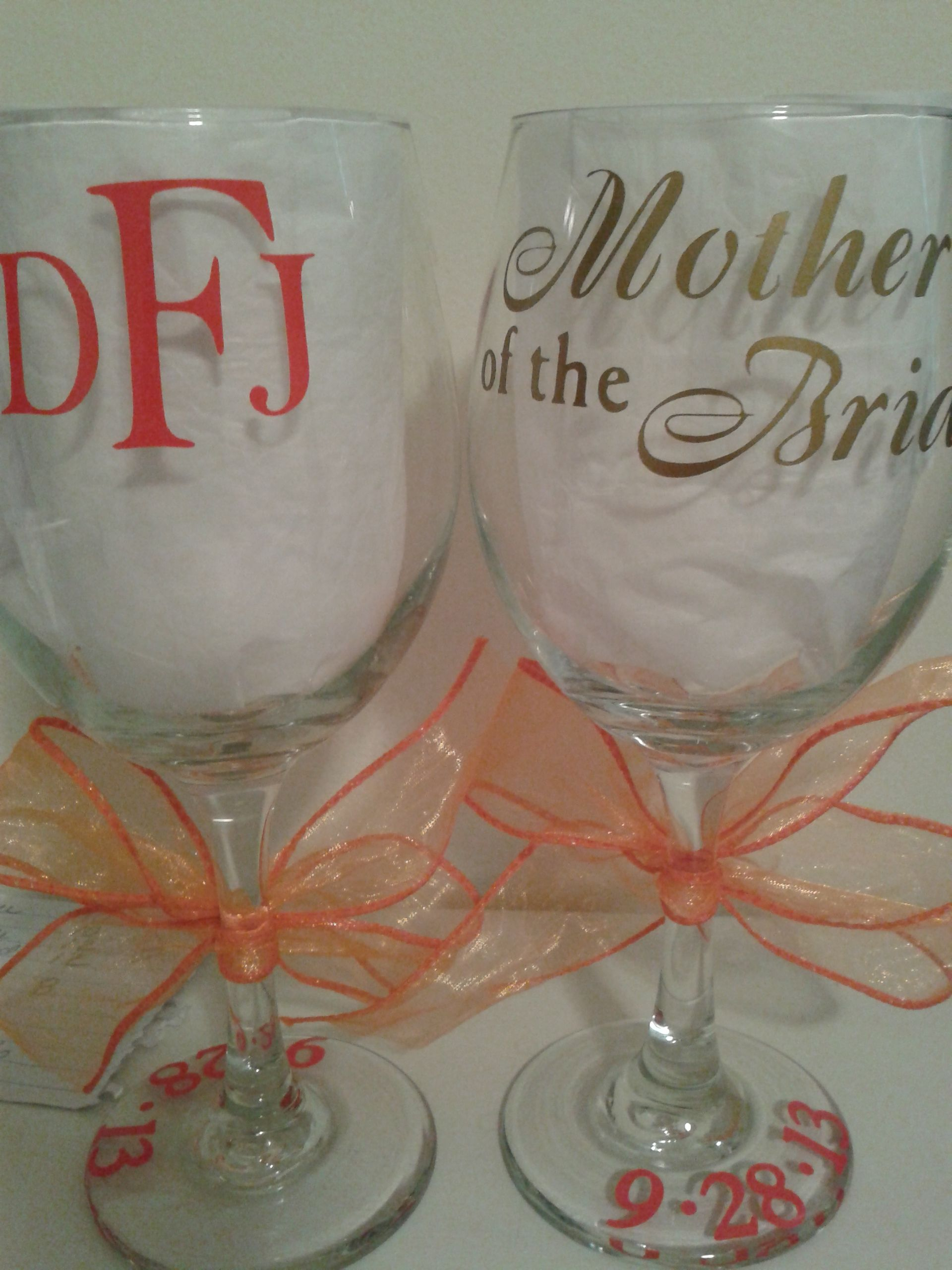 Mother of the bride Silhouette vinyl, Cricut creations
