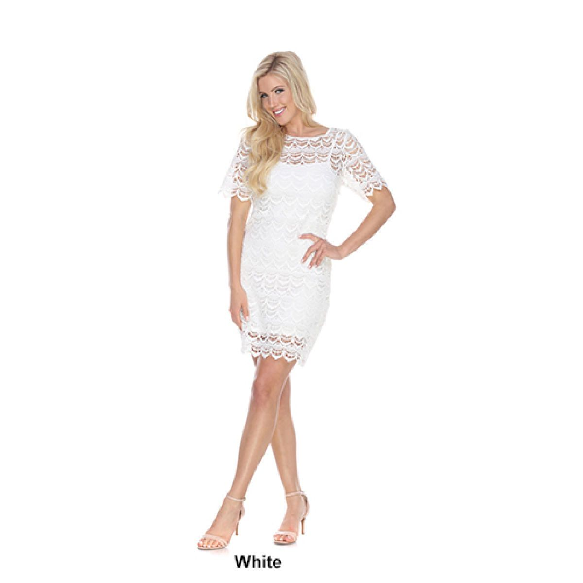 Boscov's White Lace Short Dress