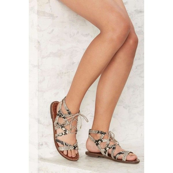 d29eb64343f Sam Edelman Gemma Gladiator Sandal (£76) ❤ liked on Polyvore featuring shoes