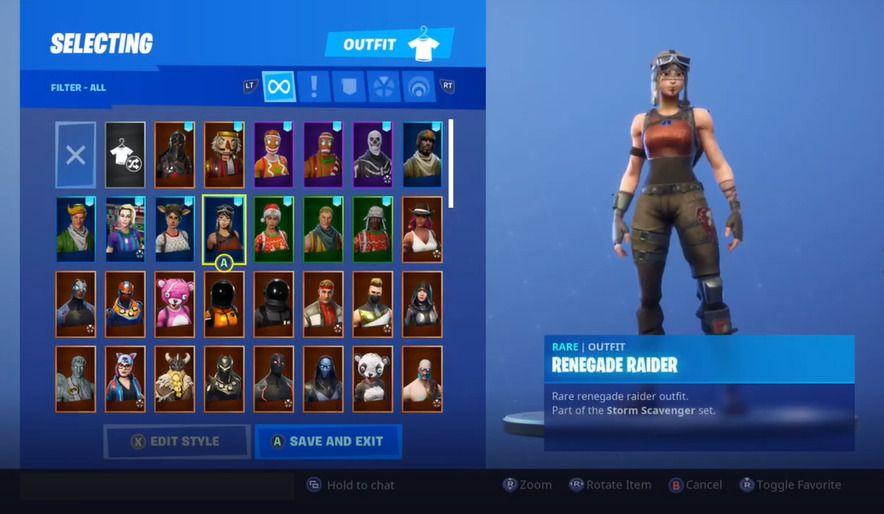 Fortnite Account Ghoul Trooper Renegade Raider Black Knight