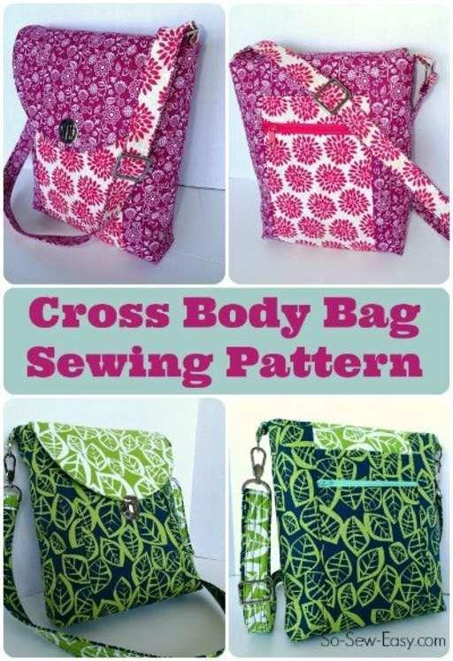 Cross Body Bag Pattern POTM Get Crafty Pinterest Bag Sewing Fascinating Cross Body Bag Pattern
