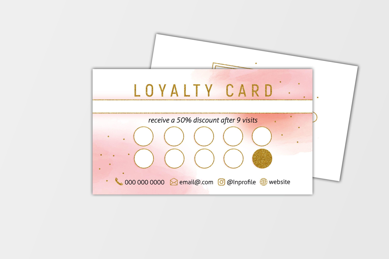 Makeup Artist Loyalty Card Template Lash Loyalty Card Hairstylist Loyalty Card Nails Loyalty Boutiq Loyalty Card Salon Business Cards Loyalty Card Template