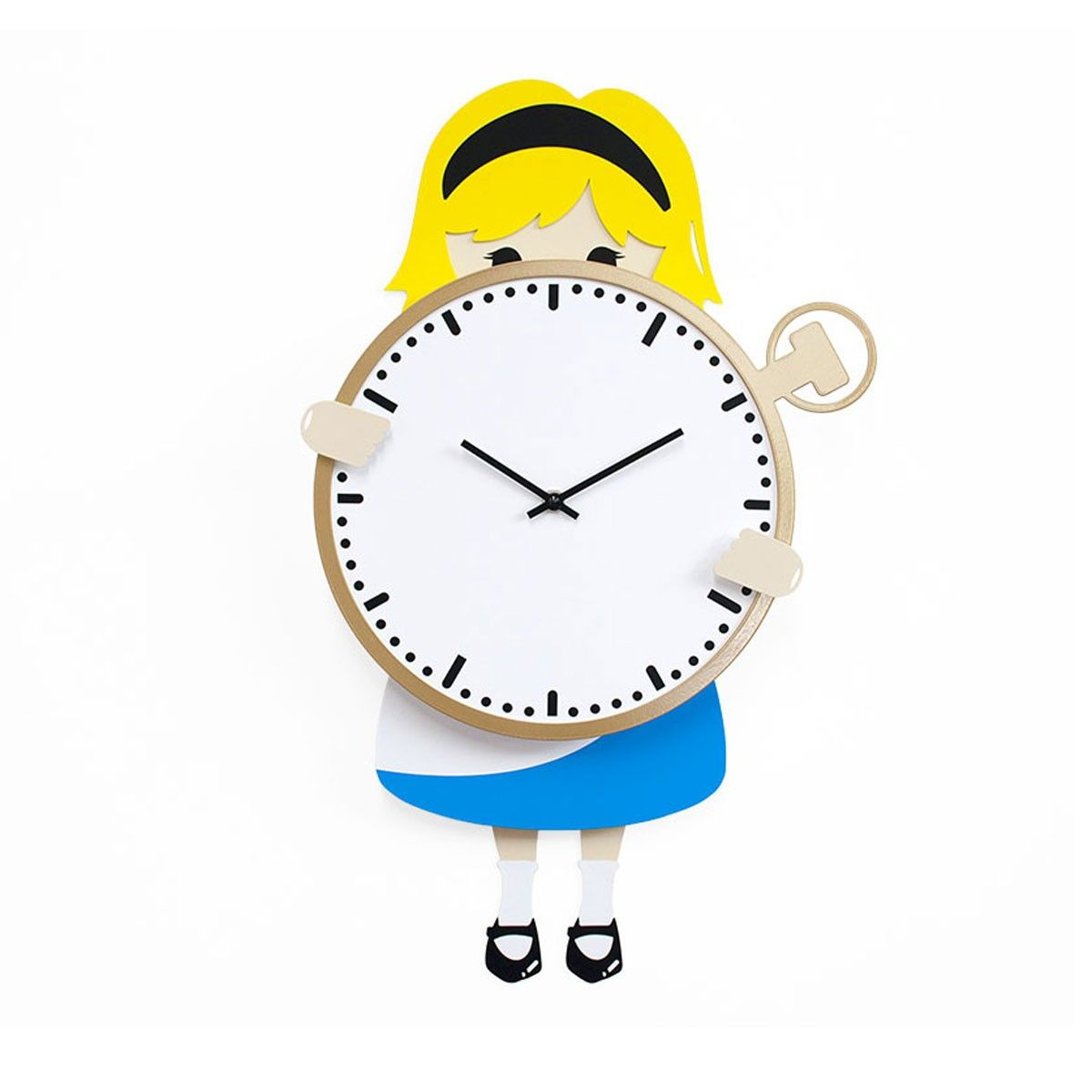 Designer High End Collector S Limited Edition Alice In Wonderland Analog Wall Clock Wall Clock Clock Large Wall Clock