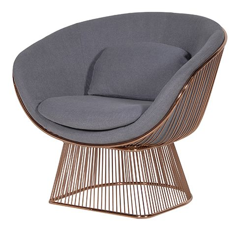 Astonishing Vogue Copper Grey Lounge Chair Chairs Benches Seating Andrewgaddart Wooden Chair Designs For Living Room Andrewgaddartcom