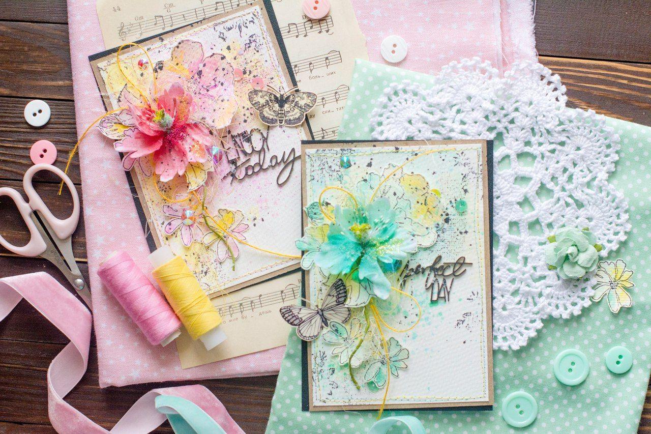Скрапбукинг женские открытки, мая днем