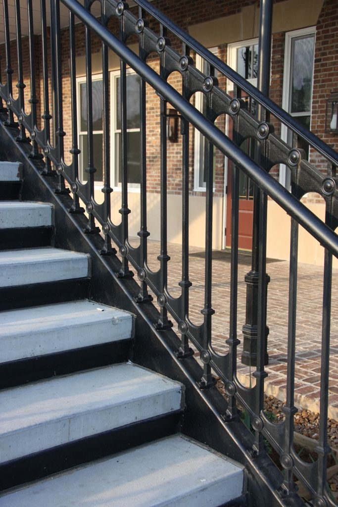 42 Tall Cast Iron Stair Railings Engineered For Fall Protection