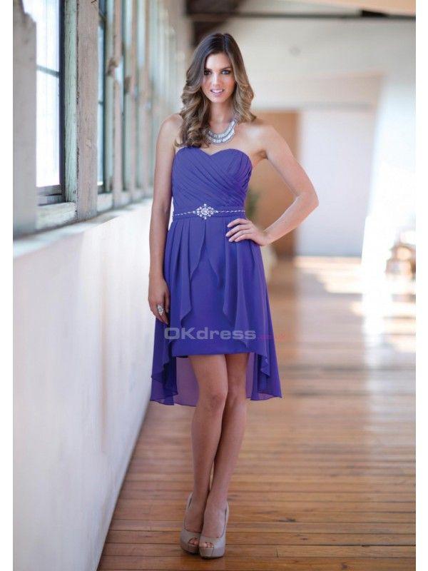 2015 cubierto rebordeando corto vestido de dama de honor | Dama ...