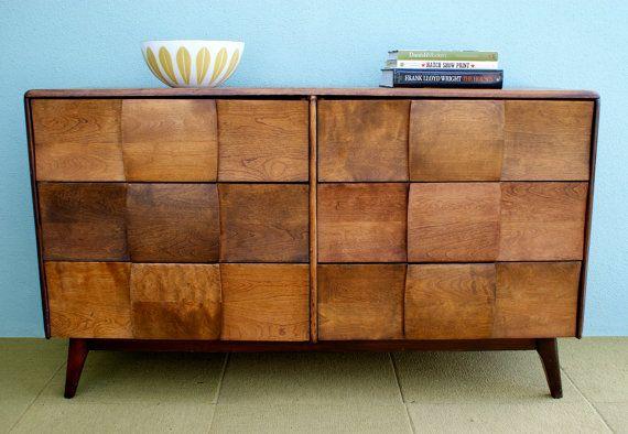 Danish Style Credenza : Heywood wakefield mid century danish style credenza dresser