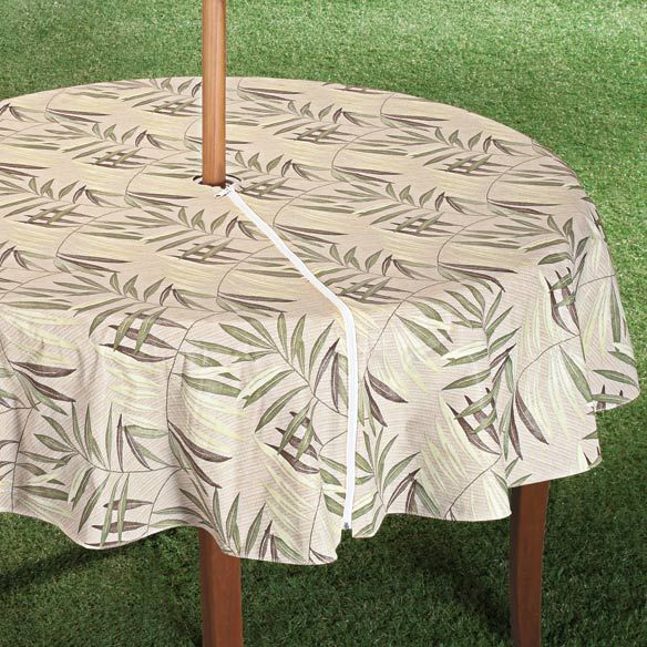 Patio Table Cover With Zipper Fern Design From Miles Kimball
