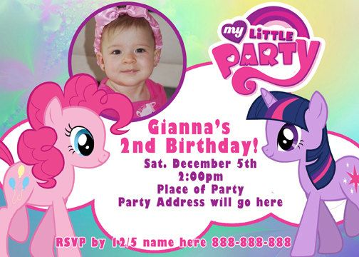 mlp my little pony invitation | gianna's 3rd birthday my little, Party invitations