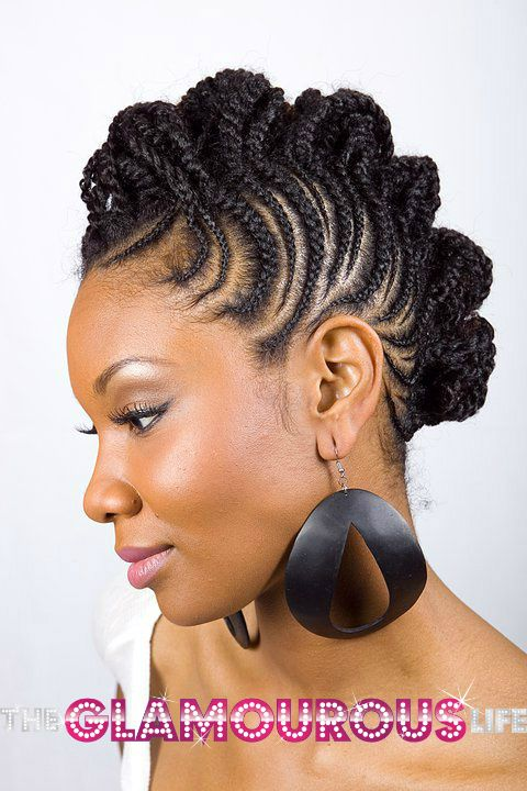 African Braided Updos Hot Braided Updos The Glamourous Life