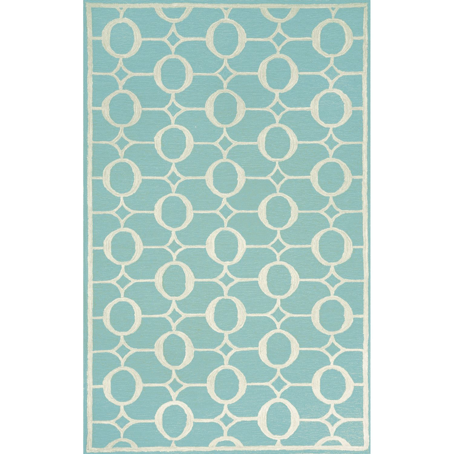 birch lane kids follow these steps rug  outdoor area rugs rugs  - liora manne spello arabesque aqua outdoor area rug