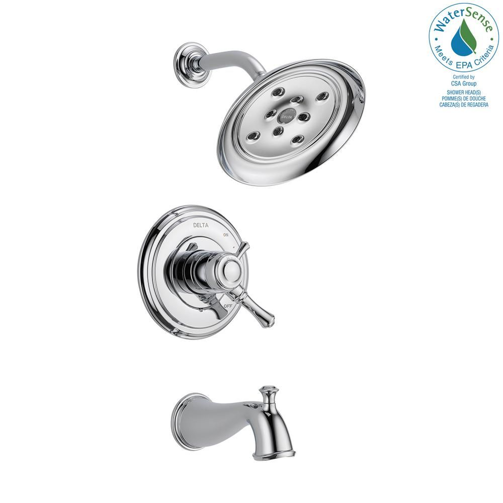 Delta Cassidy 1 Handle H2okinetic Tub And Shower Faucet Trim Kit