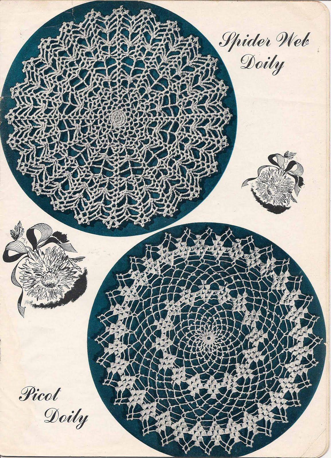 Free Crochet Patterns to Print | free crochet spider web doily ...