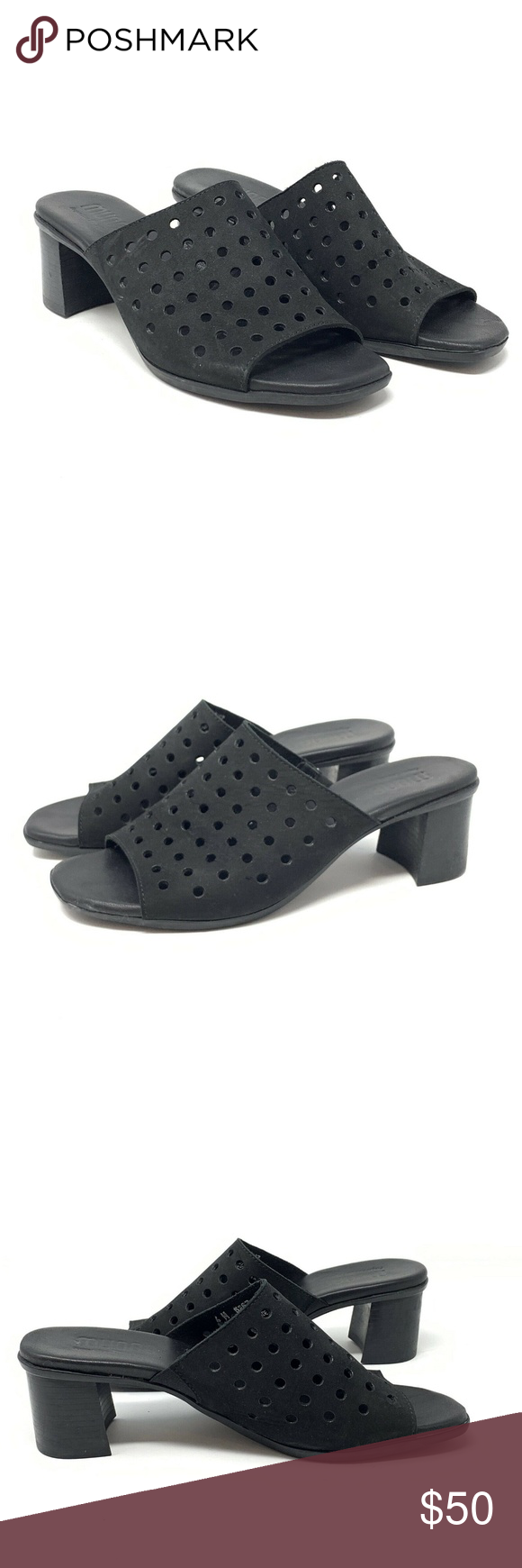 Munro Jules Mules Comfort Heeled Slides Sandals Comfortable Heels Heels Slide Sandals