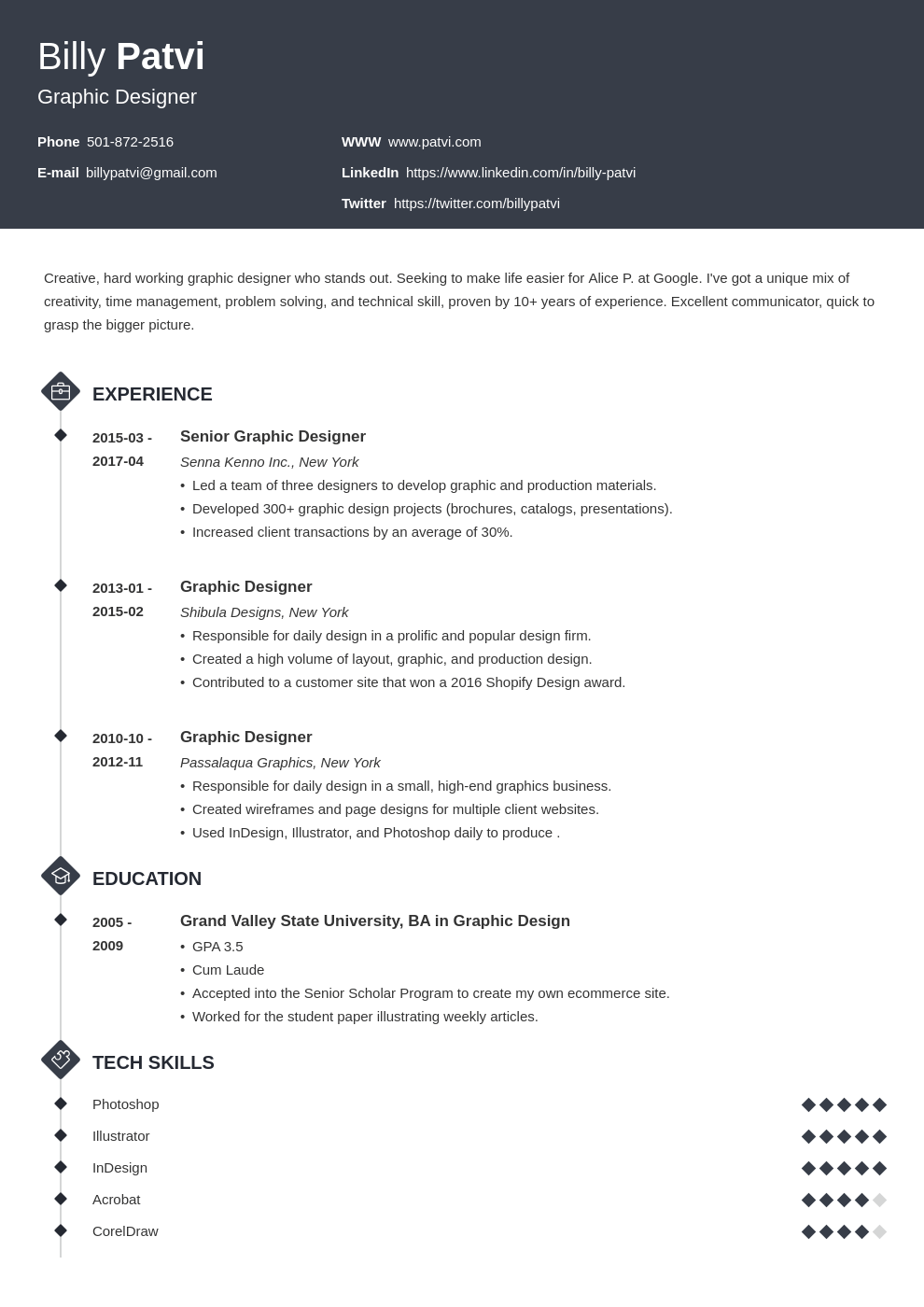 Graphic Designer Resume Examples 2020 (Template & Guide)