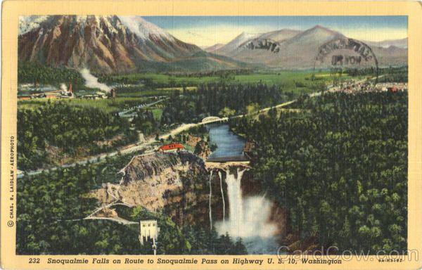 Snoqualmie Falls Scenic Washington