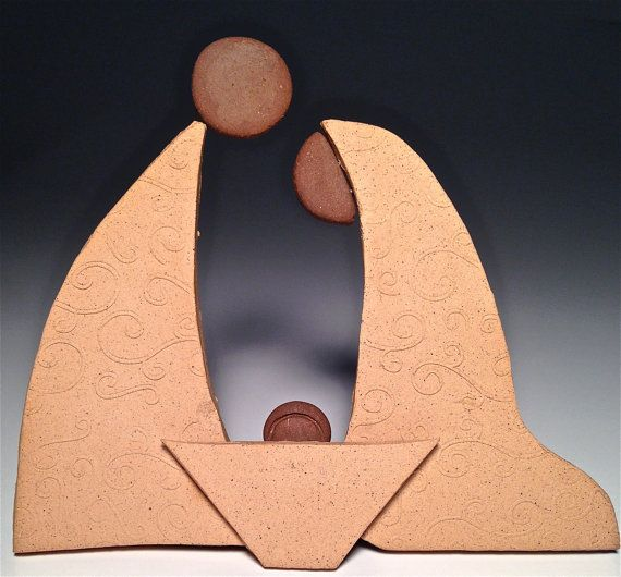 poterie artisanale nativit manger contemporaine par potterybydaina no l pinterest. Black Bedroom Furniture Sets. Home Design Ideas