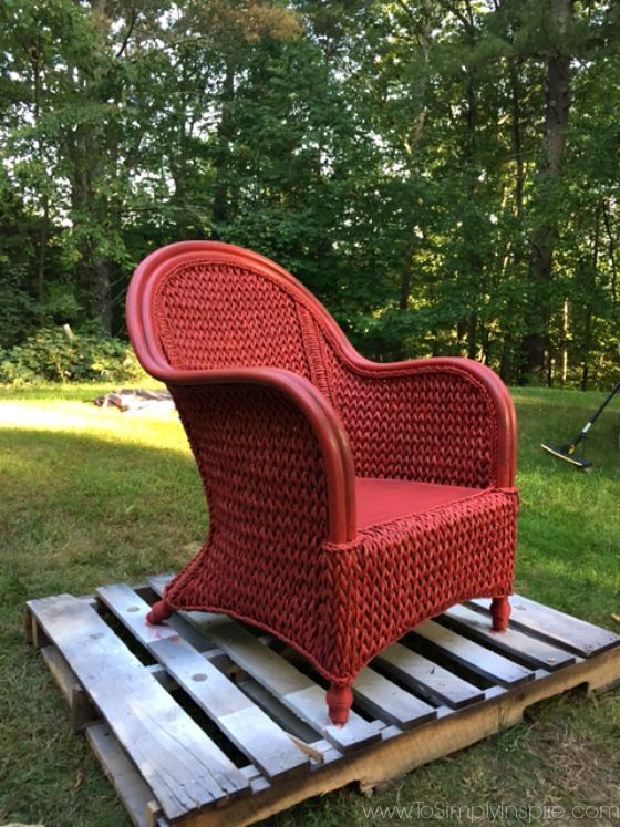 Wicker Patio Furniture Red Cushions: How To Paint Wicker Furniture With A Brush8