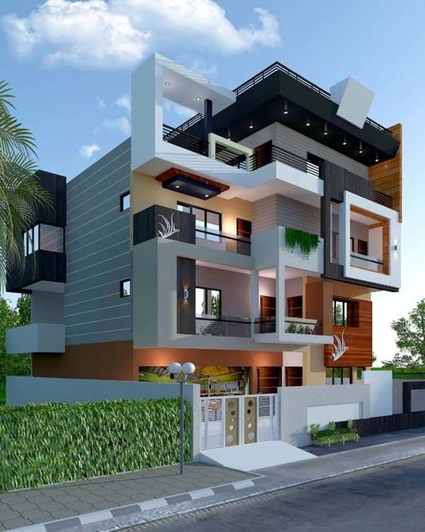 Modern Residential Exterior By Ar Sagar Morkhade: Modern And Stylish Exterior Home Design Ideas