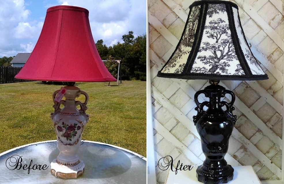Before And After French Country Lamp Makeover Lamp Makeover Thrift Store Lamp Makeover Diy Lamp Makeover