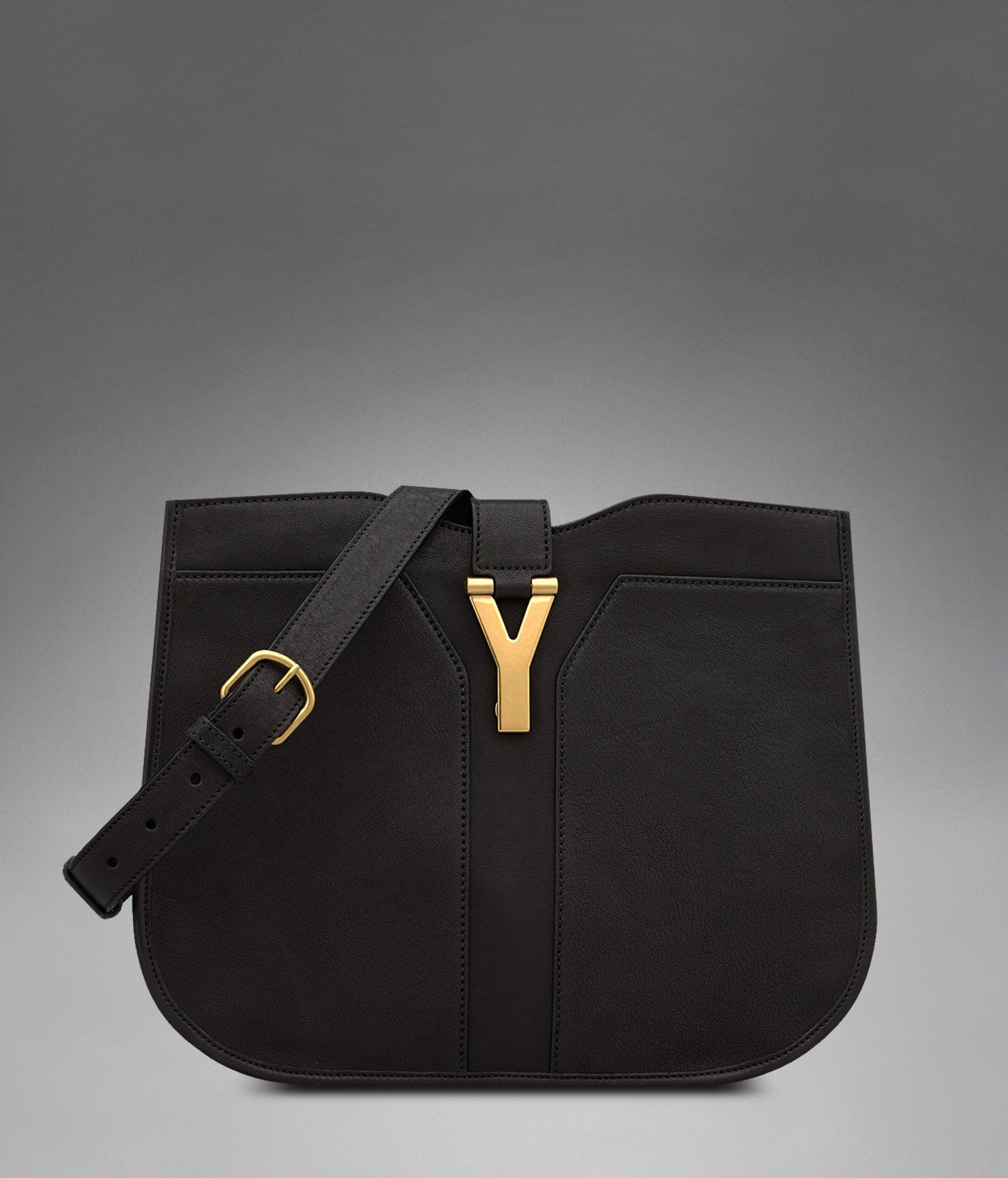 Medium YSL Chyc Shoulder Bag in Black Leather - Chyc – Handbags – Women – Yves  Saint Laurent – www.ysl.com ad42dfced45b1