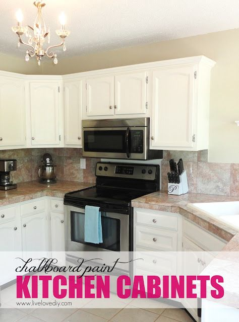 DIY Chalkboard Paint Kitchen Cabinets! Tons of great budget ...