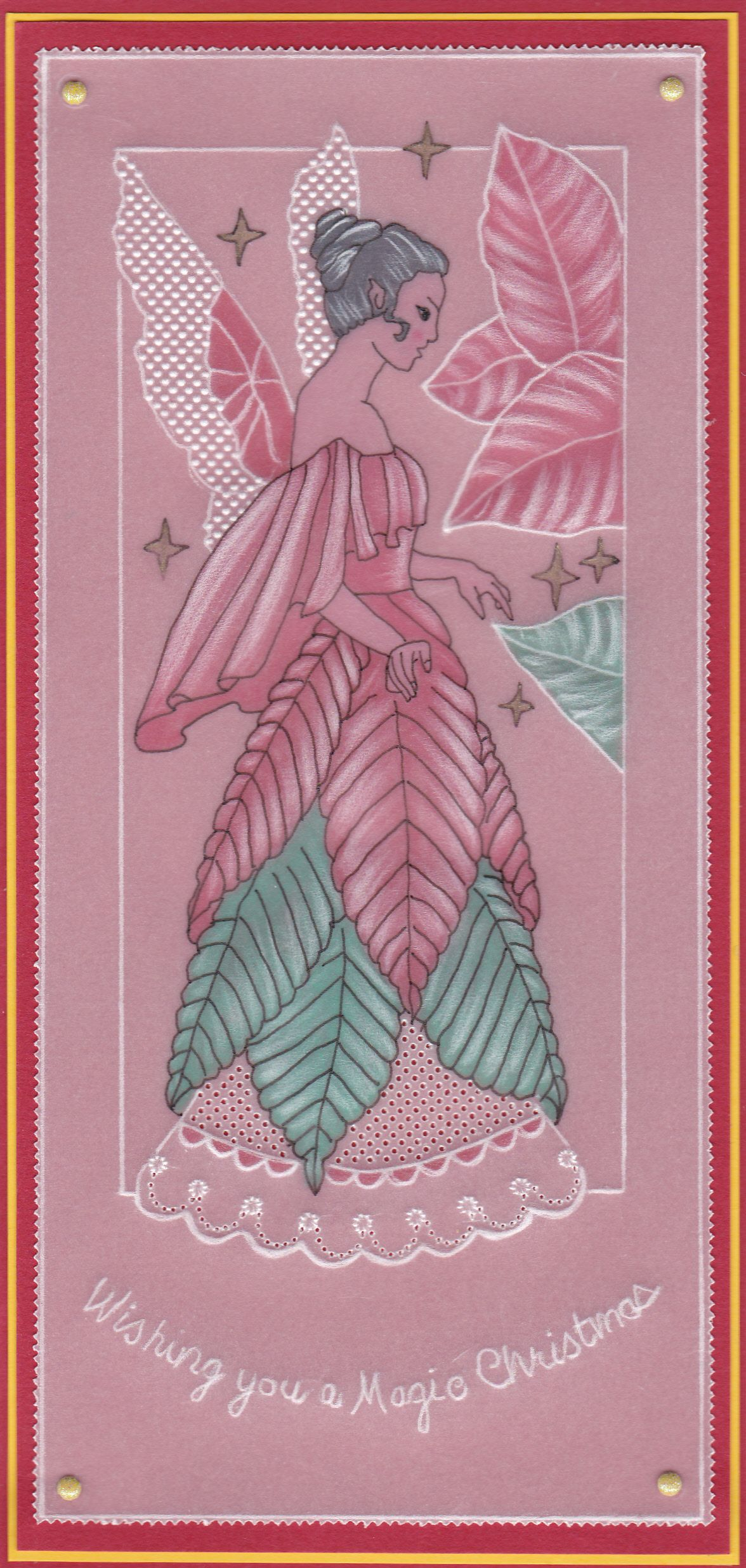Poinsettia Fairy 1st Of 3 New Judith Maslen Patterns For Christmas