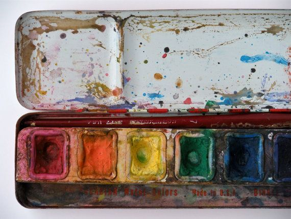 Watercolors Vintage Paint Box Vintage Painting Painting