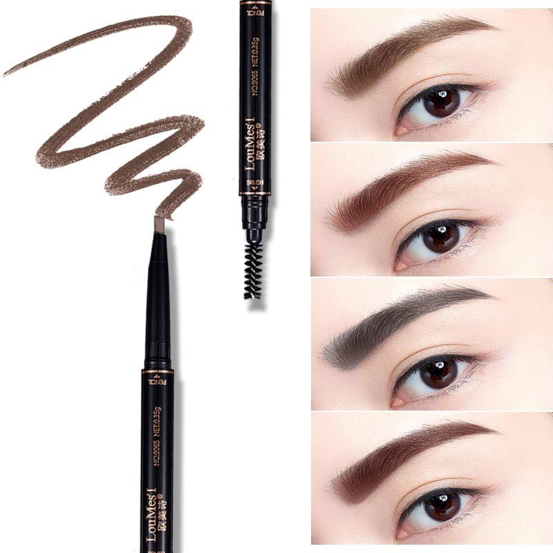 Click Y Cómpralo: Kompritas.com – Loumesi ceja duradera lápiz de CEJA impermeable duradera maquillaje negro marrón ceja lápiz Eye Brow Liner eyemakeup