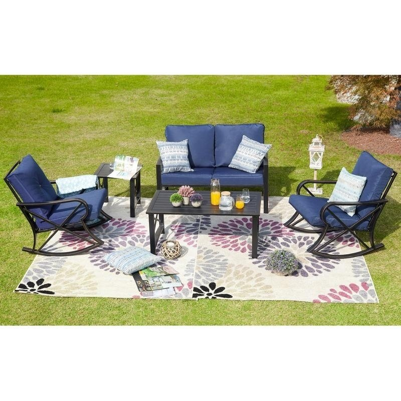 Patio Festival ® Outdoor 5-Piece Sofa Seating Group With