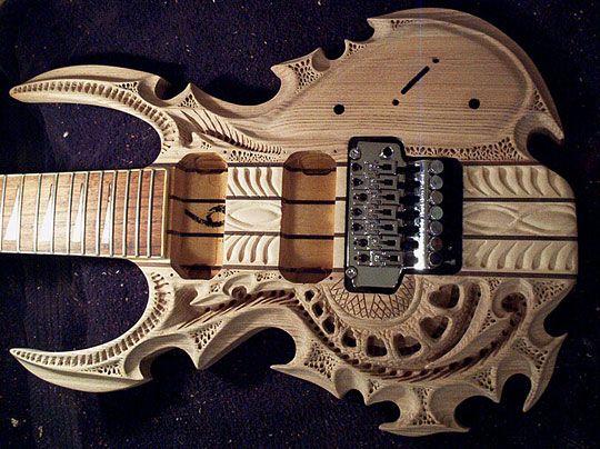 Carved Guitar Guitar Guitar Art Cool Guitar