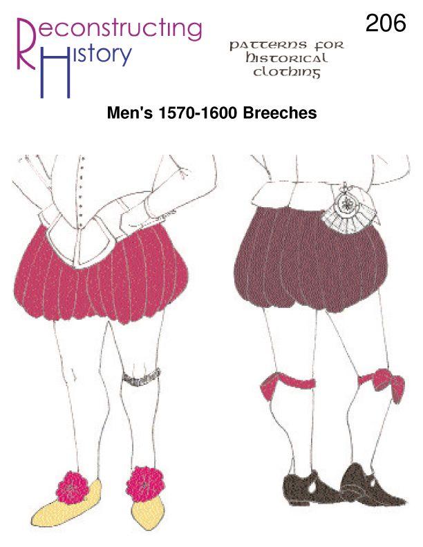 Reconstructing History Pattern Rh206 Men S 1570 1600 Breeches