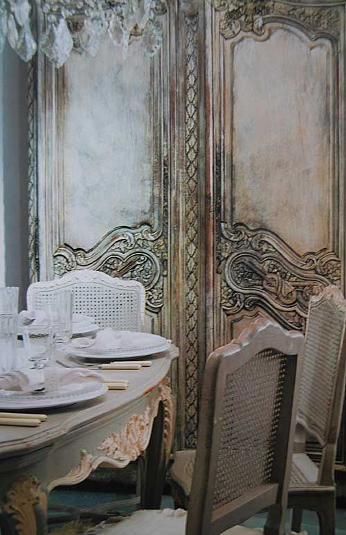 living with painted furniture...Dining fabulously French chateau style