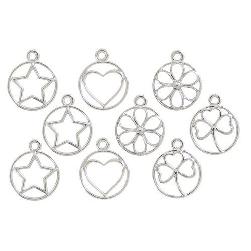 9pc Star & Heart & Flower & Clover Connectors | PrimaBead - Jewelry Supplies on ArtFire