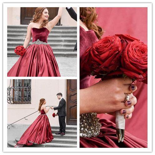A-LINE SWEETHEART ELASTIC WOVEN SATIN WEDDING DRESS BALL GOWN DRESSES SKY279