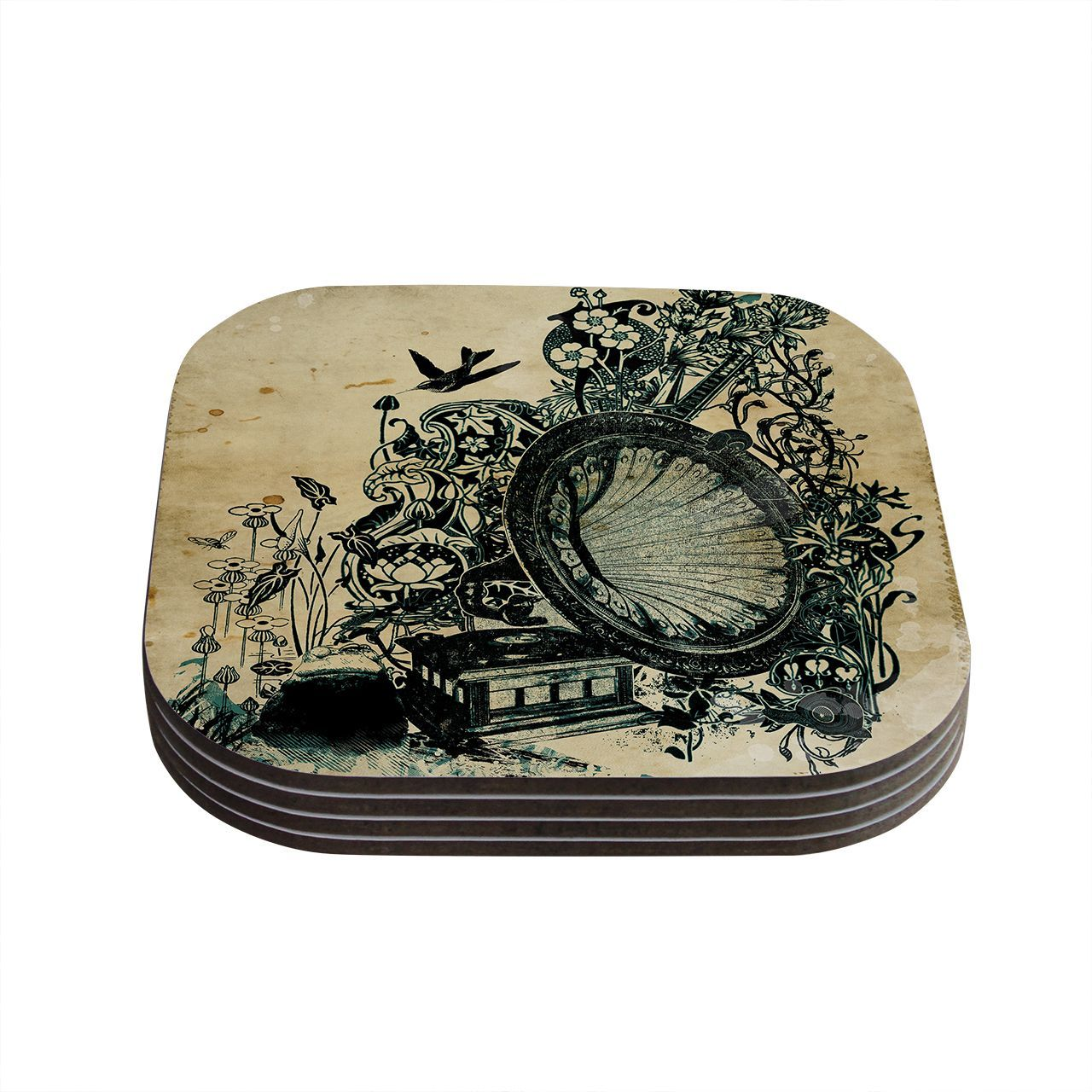 Kess InHouse Frederic Levy-Hadida 'Sound of Nature' Coasters