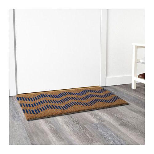SOMMAR 2016 Fußmatte, natur, blau | Door mats, Doors and Small spaces