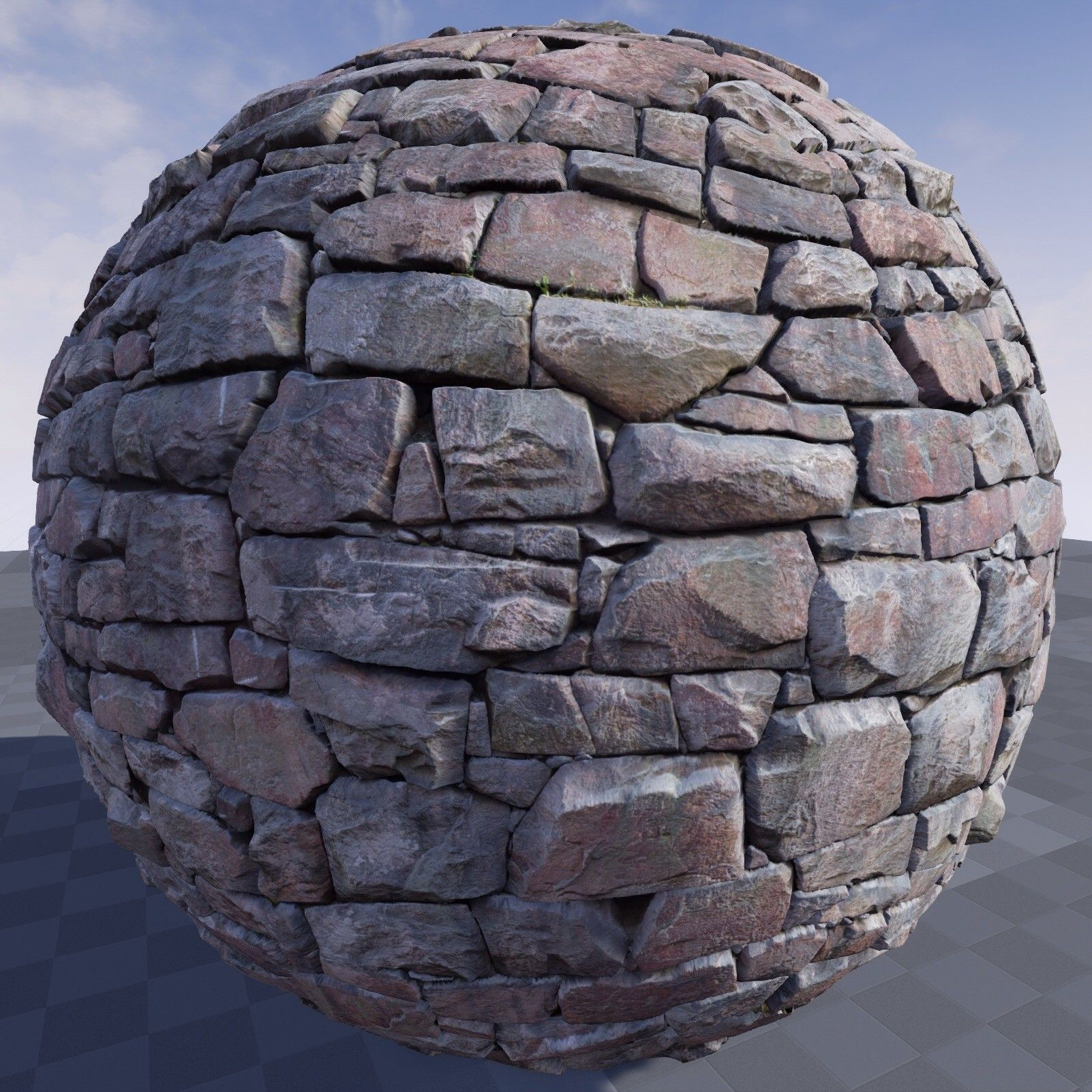 ArtStation - Texture of stone wall in Unreal Engine , Crazy