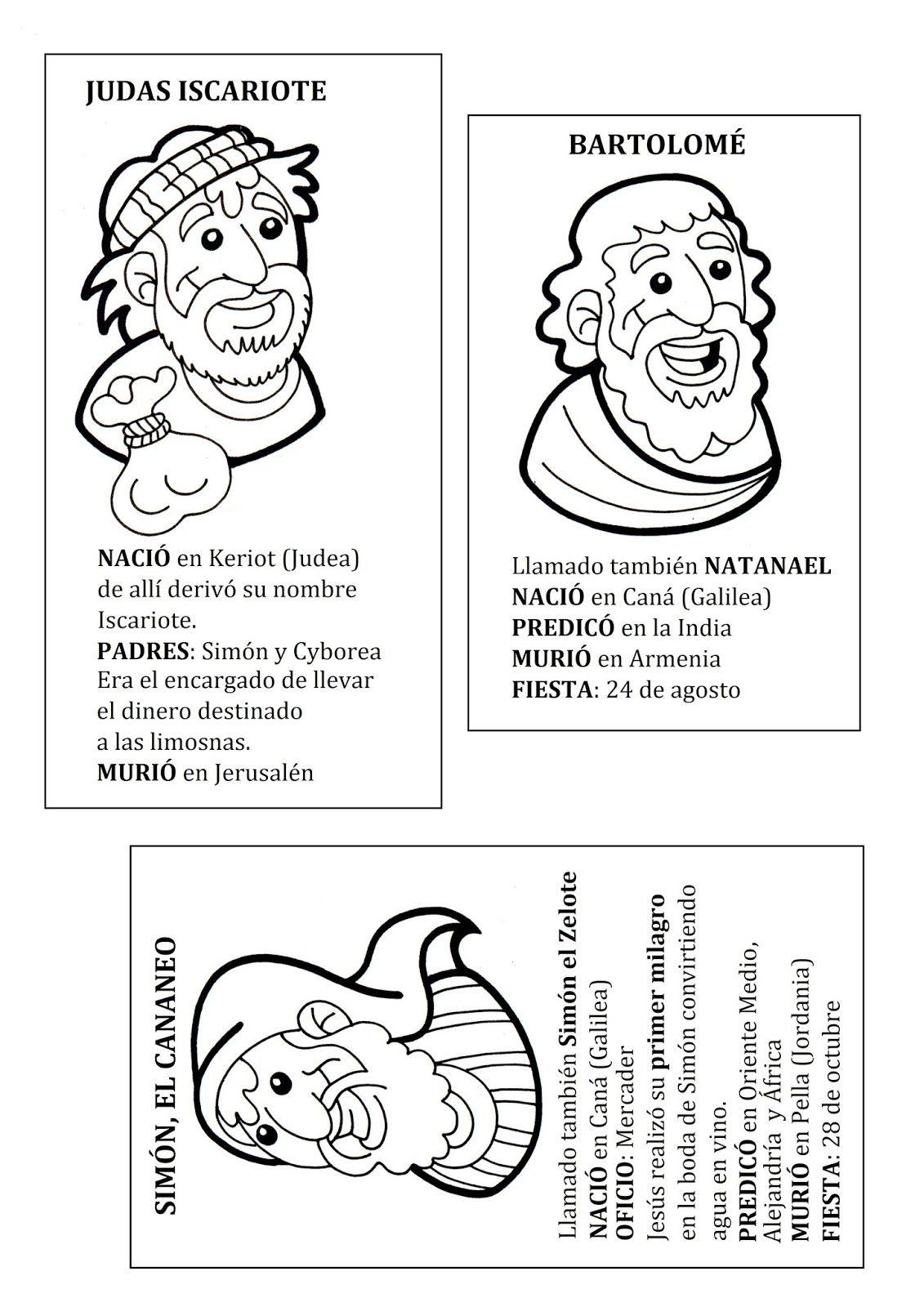 2Bapostoles+4.jpg (1131×1600) | religión | Pinterest | Colorear, La ...