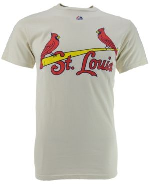 Majestic Men's Stan Musial St. Louis Cardinals Cooperstown Player T-Shirt  - Ivory/Cream M