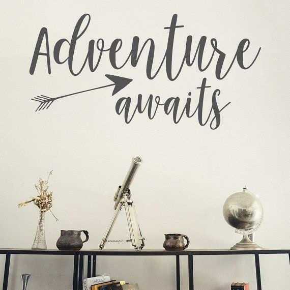 Wall Decal Adventure Awaits Those Who Dare Wanderlust Decal - Custom vinyl wall decals cheap   how to remove