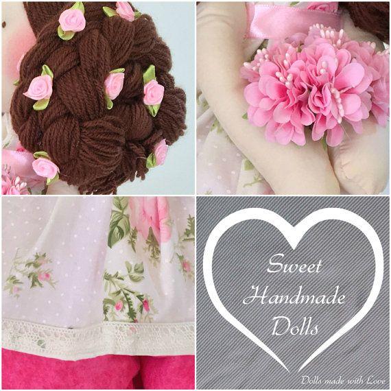 Leia Doll-Handmade Doll-Textile Doll-Fabric por SweetHandmadeDolls
