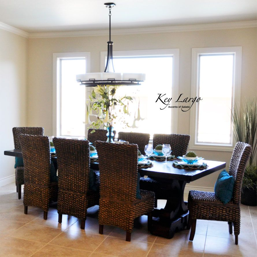 British Western Indies Decor Use Of Rattan And Leather