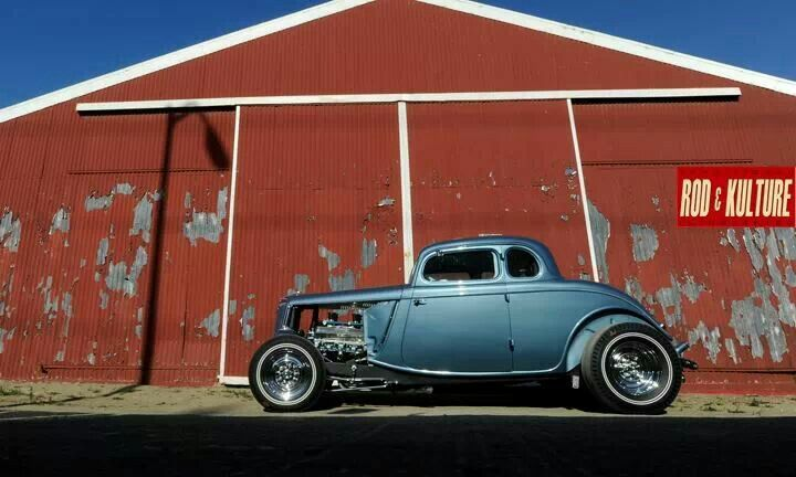 Blue 34 Hot Rod