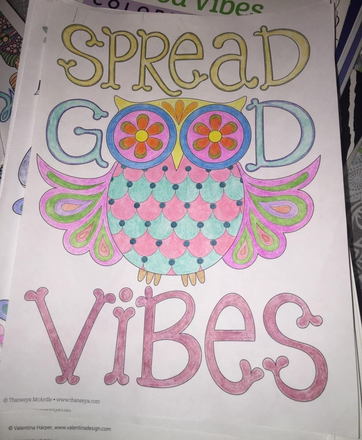 Amazon Good Vibes Coloring Book Is Fun 9781574219951