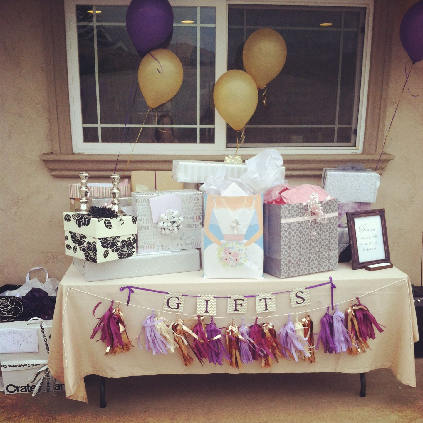 Wedding Gift Decoration Ideas: Gift Table! We Would Use Pink And Gold -bridal Shower