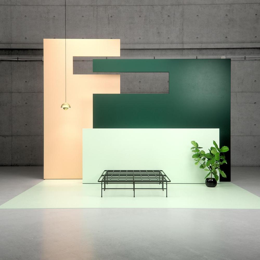 Demetric Metal Elite 14 Inch Smartbase Frame Steel Bed Frame Framed Wallpaper Metal Bed Frame